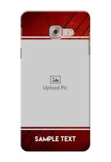 Samsung Galaxy J7 Max Leather Design Picture Upload Mobile Case Design