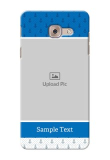 Samsung Galaxy J7 Max Blue Anchors Mobile Case Design