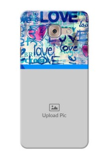 Samsung Galaxy J7 Max Colourful Love Patterns Mobile Case Design