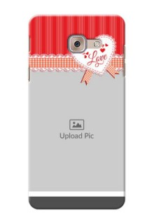 Samsung Galaxy J7 Max Red Pattern Mobile Cover Design