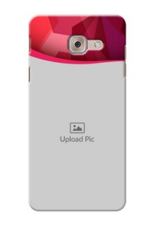 Samsung Galaxy J7 Max Red Abstract Mobile Case Design