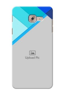 Samsung Galaxy J7 Max Blue Abstract Mobile Cover Design