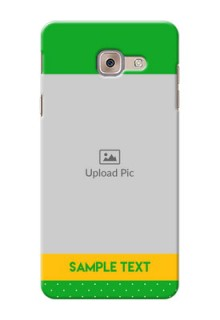 Samsung Galaxy J7 Max Green And Yellow Pattern Mobile Cover Design