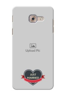 Samsung Galaxy J7 Max Just Married Mobile Cover Design