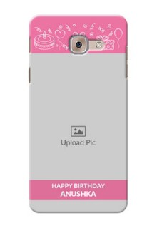 Samsung Galaxy J7 Max plain birthday line arts Design