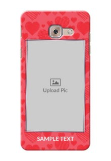 Samsung Galaxy J7 Max multiple hearts symbols Design