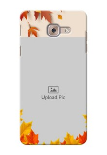 Samsung Galaxy J7 Max autumn maple leaves backdrop Design