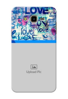 Samsung Galaxy J7 Nxt Colourful Love Patterns Mobile Case Design