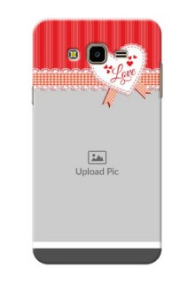 Samsung Galaxy J7 Nxt Red Pattern Mobile Cover Design