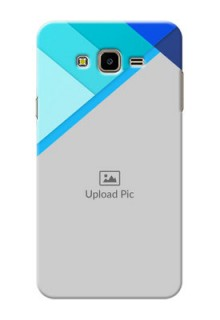 Samsung Galaxy J7 Nxt Blue Abstract Mobile Cover Design