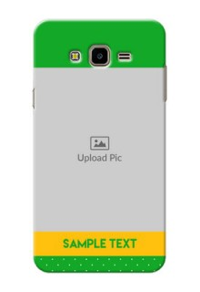 Samsung Galaxy J7 Nxt Green And Yellow Pattern Mobile Cover Design