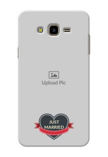Samsung Galaxy J7 Nxt Just Married Mobile Cover Design