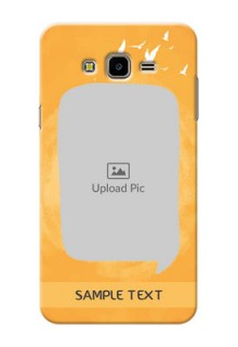 Samsung Galaxy J7 Nxt watercolour design with bird icons and sample text Design Design