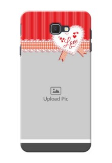Samsung Galaxy J7 Prime Red Pattern Mobile Cover Design