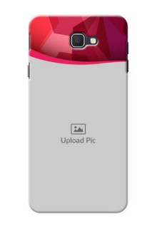 Samsung Galaxy J7 Prime Red Abstract Mobile Case Design