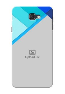 Samsung Galaxy J7 Prime Blue Abstract Mobile Cover Design