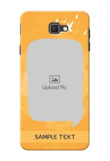 Samsung Galaxy J7 Prime watercolour design with bird icons and sample text Design Design