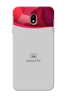 Samsung Galaxy J7 Pro Red Abstract Mobile Case Design