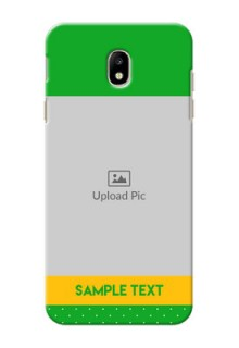 Samsung Galaxy J7 Pro Green And Yellow Pattern Mobile Cover Design