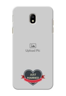 Samsung Galaxy J7 Pro Just Married Mobile Cover Design
