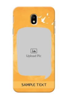 Samsung Galaxy J7 Pro watercolour design with bird icons and sample text Design Design