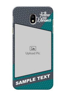 Samsung Galaxy J7 Pro 2 colour background with different patterns and dreams quote Design Design