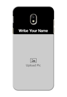 Galaxy J7 Pro Photo with Name on Phone Case