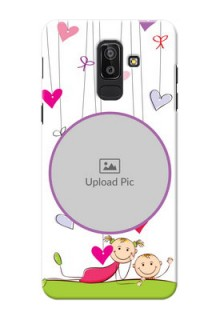 Samsung Galaxy J8 Cute Babies Mobile Cover  Design