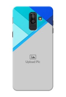 Samsung Galaxy J8 Blue Abstract Mobile Cover Design