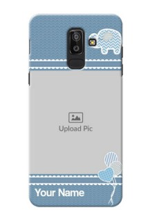 Samsung Galaxy J8 kids icons with  simple pattern Design