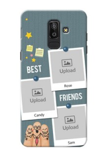 Samsung Galaxy J8 3 image holder with sticky frames and friendship day wishes Design