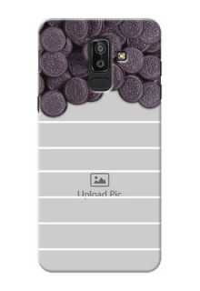 Samsung Galaxy J8 oreo biscuit pattern with white stripes Design
