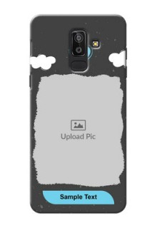 Samsung Galaxy J8 splashes backdrop with love doodles Design