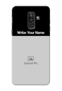 Galaxy J8 Photo with Name on Phone Case