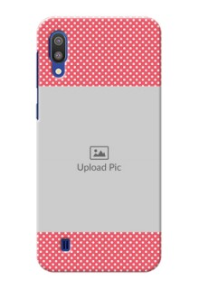 Samsung Galaxy M10 Custom Mobile Case with White Dotted Design