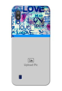 Samsung Galaxy M10 Mobile Covers Online: Colorful Love Design