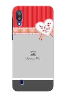 Samsung Galaxy M10 phone cases online: Red Love Pattern Design