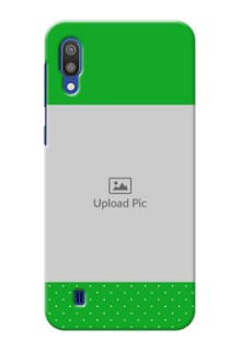 Samsung Galaxy M10 Personalised mobile covers: Green Pattern Design