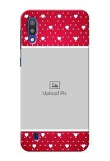 Samsung Galaxy M10 custom back covers: Hearts Mobile Case Design