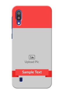 Samsung Galaxy M10 Personalised mobile covers: Simple Red Color Design