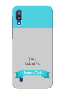 Samsung Galaxy M10 Personalized Mobile Covers: Simple Blue Color Design