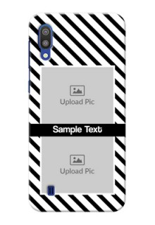 Samsung Galaxy M10 Back Covers: Black And White Stripes Design
