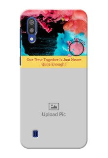 Samsung Galaxy M10 Mobile Cases: Quote with Acrylic Painting Design