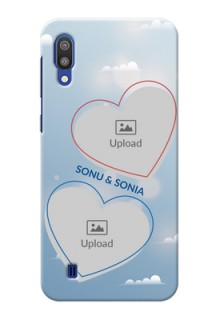 Samsung Galaxy M10 Phone Cases: Blue Color Couple Design