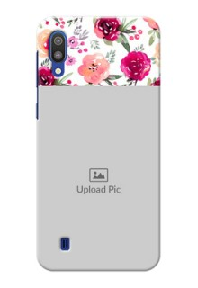 Samsung Galaxy M10 Personalized Mobile Cases: Watercolor Floral Design