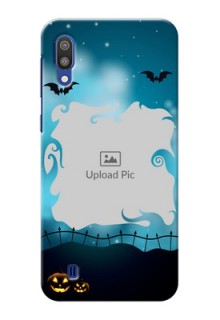 Samsung Galaxy M10 Personalised Phone Cases: Halloween frame design