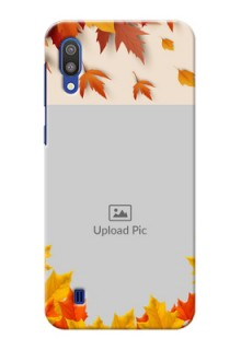 Samsung Galaxy M10 Mobile Phone Cases: Autumn Maple Leaves Design