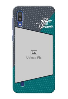 Samsung Galaxy M10 Back Covers: Background Pattern Design with Quote
