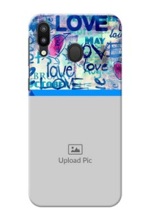 Samsung Galaxy M20 Mobile Covers Online: Colorful Love Design