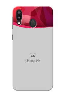 Samsung Galaxy M20 custom mobile back covers: Red Abstract Design